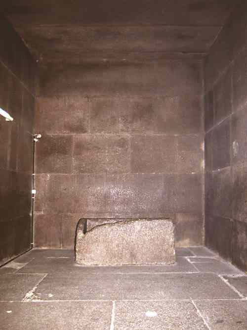 The King's Chamber of the Great Pyramid of Giza, Egypt.