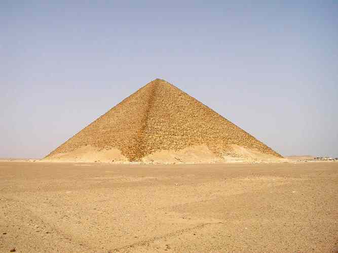 Perfect in form, flatter and darker than its' brothers at Giza, the Red Pyramid.