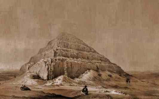 The step pyramid of Djoser (Zoser) is like a great square wedding cake